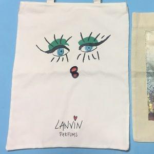 Lanvin Parfums Tote Bag Purse Vintage + Bonus!
